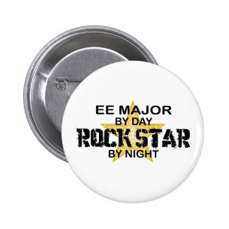EE Major Rock Star by Night Pinback Buttons