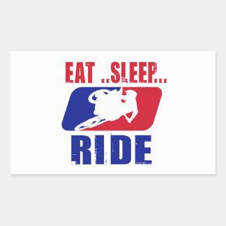 Eeat Sleep and ride Rectangle Sticker