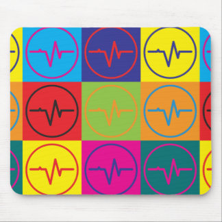 EEG Pop Art Mouse Pad