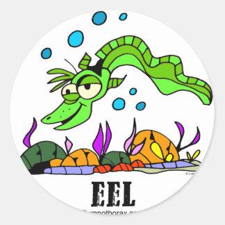 Eel by Lorenzo © 2018 Lorenzo Traverso7 Classic Round Sticker
