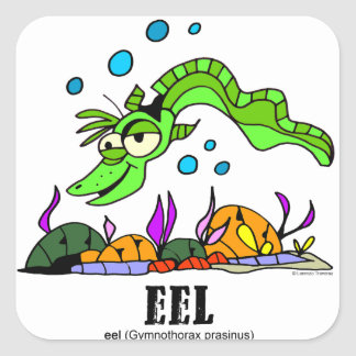 Eel by Lorenzo © 2018 Lorenzo Traverso7 Square Sticker