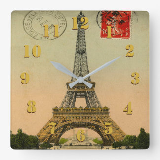 Eelgant and Beautiful Vintage Paris Square Wall Clock