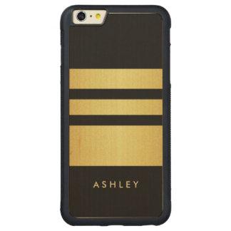 Eelgant Black Gold Glitter Stripes Pattern