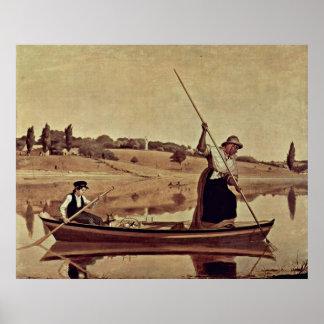 eels in Setauket by William Sidney Mount Poster