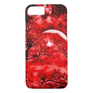 Eerie Blood Moon Airbrush Art iPhone 7 Case