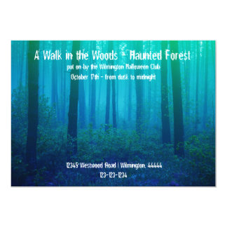 Eerie Blue Forest - Haunted Forest Invitation