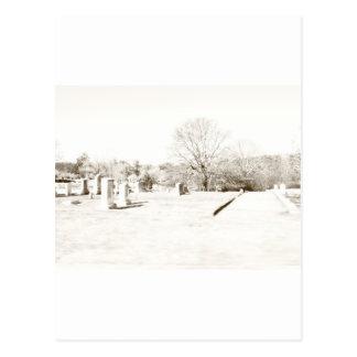 Eerie Cemetery Postcards