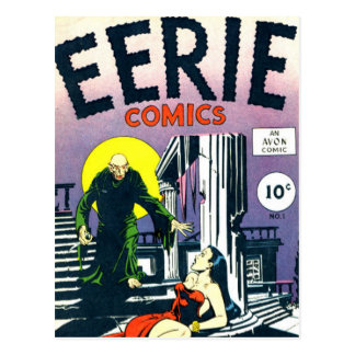 Eerie Comic books Postcard