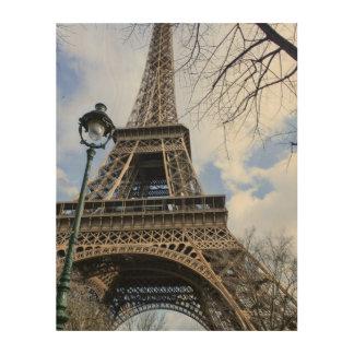 Eerie Eiffel Wood Canvases