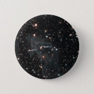 Eerie ghost in Carina Nebula 6 Cm Round Badge