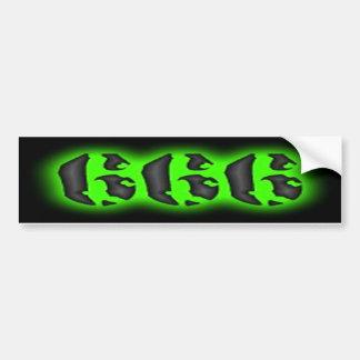 Eerie Glowing Green 666 Bumper Sticker