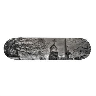 eerie graveyard 21.6 cm old school skateboard deck