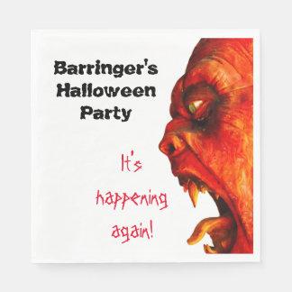 Eerie Horror Monster Halloween Party Napkin Disposable Serviettes
