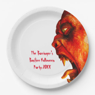 Eerie Horror Monster Halloween Party Paper Plate