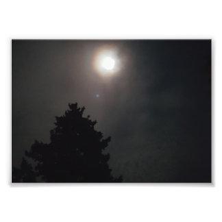 Eerie Moon Photo Print