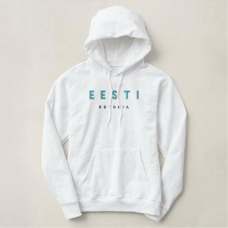EESTI, Estonia Embroidered Hooded Sweatshirts