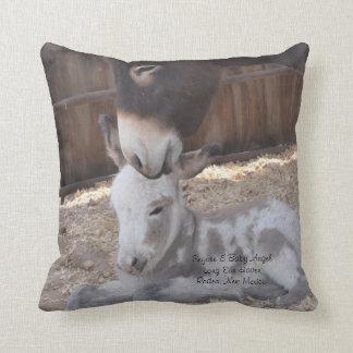 Eeyore and Angel Throw Pillow