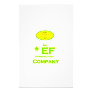 EF - Envirnomentally Friendly Company1 Personalized Stationery