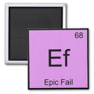 Ef - Epic Fail Chemistry Element Symbol Meme Tee Magnet