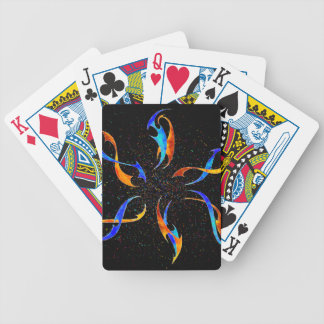 Efenissium - space dolphins bicycle playing cards