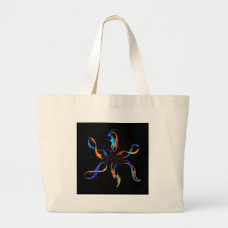 Efenissium - space dolphins large tote bag