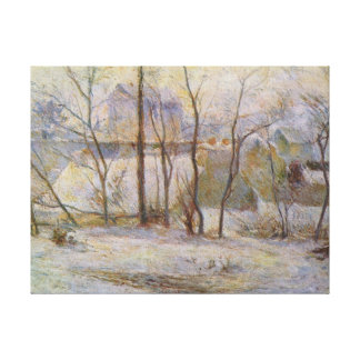 Effect of Snow - Paul Gauguin (1879) Stretched Canvas Print