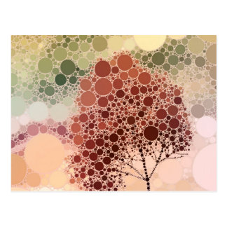 effect tree red postcard