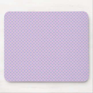 Effective blue flower with sepals on rough pink ba mousepads