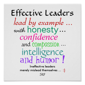 Effective Leaders Character Traits by SRF Poster