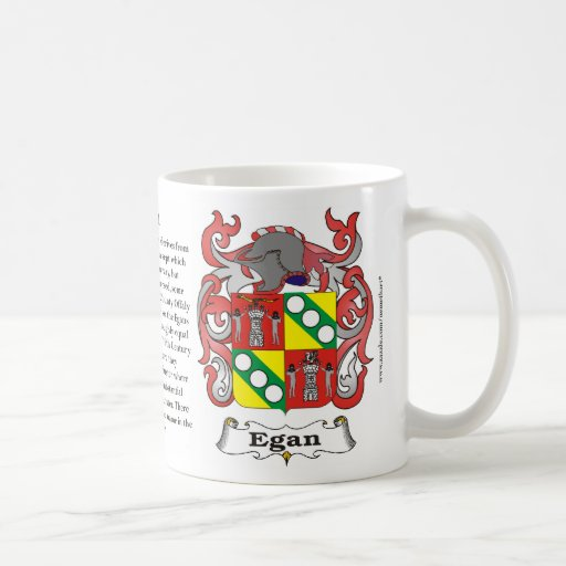 Egan, the Origin, the Meaning and the Crest on a m Coffee Mugs