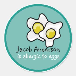 Egg Allergy Customizable Sticker