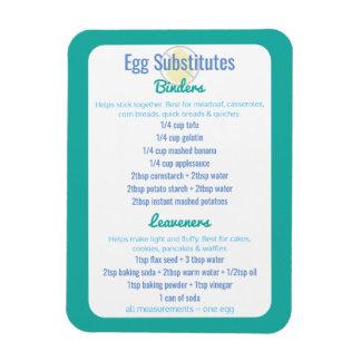 Egg Alternatives Reference Egg Substitutes Magnet