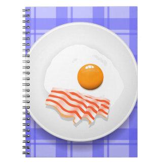 egg bacon notebook
