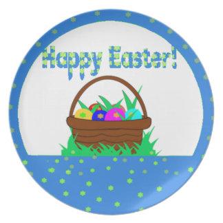Egg basket in blue for Easter Dinner Plates