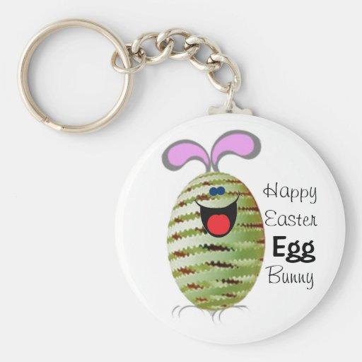 Egg Bunny Easter Keychain