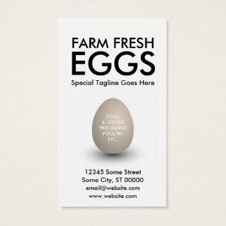 egg business card