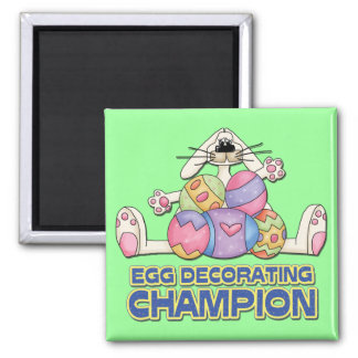 Egg Decorating Champion Square Magnet