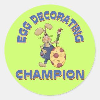 Egg Decorating Champion Round Sticker