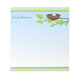 Egg in Birds Nest Notepad