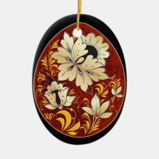 Egg Ornament - Russian Folk Art 4-NBG