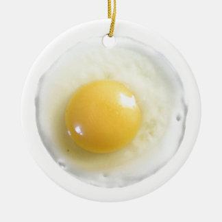 Egg Over Easy Ceramic Ornament