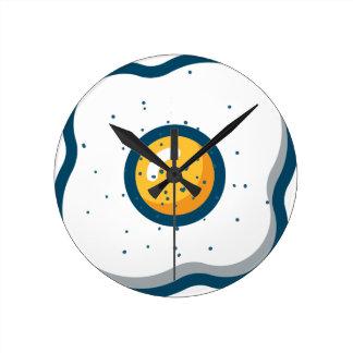 Egg Round Clock