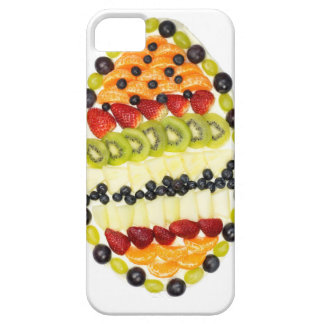 Egg shaped fruit pie with various fruits case for the iPhone 5
