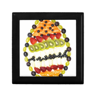 Egg shaped fruit pie with various fruits gift box