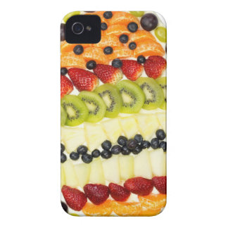 Egg shaped fruit pie with various fruits iPhone 4 Case-Mate cases