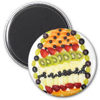 Egg shaped fruit pie with various fruits magnet
