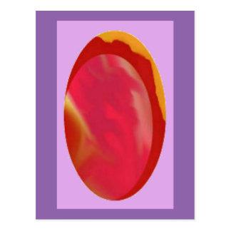 Egg shaped Jewel / Stone Digital Art Postcard