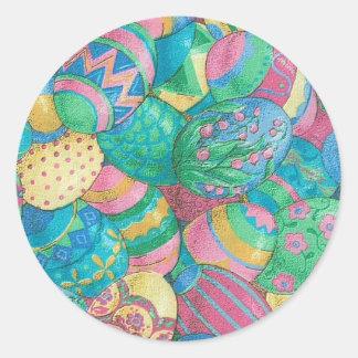 Egg-stavaganza Round Sticker