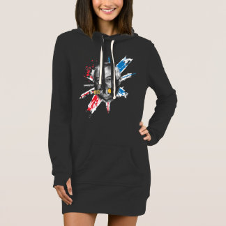 Egg Tart | Black Women Hoodie Dress