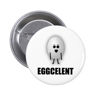 EGGCELENT 6 CM ROUND BADGE